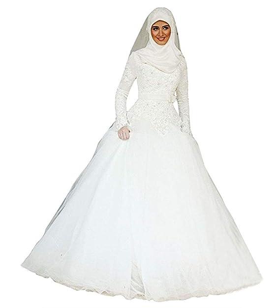 Emmani Women\u0027s Muslim Style Bride Wedding Dresses