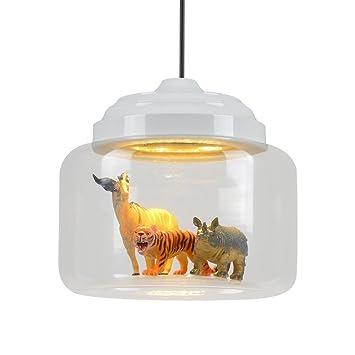 GBYZHMH Beleuchtung Kronleuchter, Modern Retro Kronleuchter Schatten  Anhänger Abgehängte Decke Licht LED Klares Glas