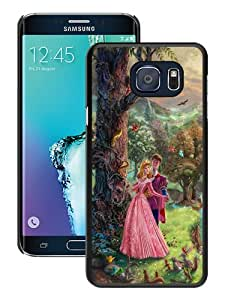High Quality Samsung Galaxy S6 Edge+ Skin Case ,Thomas Kinkade Sleeping Beauty Black Samsung Galaxy S6 Edge Plus Screen Cover Case Popular And Unique Custom Designed Phone Case