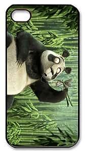 spec covers panda fish PC Black Case for iphone 4/4S