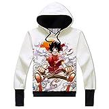 One Piece Cosplay Luffy Hoodie Anime Printing Coat Women Men Teens