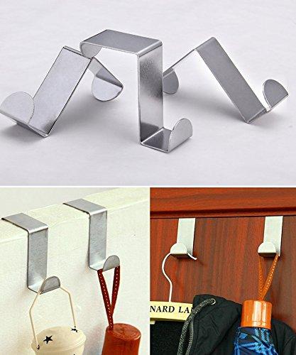 Tsuen 12 Pack Over The Door Hooks Z Shaped Hooks Hangers, Heavy Duty Metal Hanging Hooks Hangers Clothes Storage Rack for Kitchen, Bathroom, Bedroom, Work Shop, Garden and Office (3 x 4.5 x 6cm) by Tsuen (Image #5)
