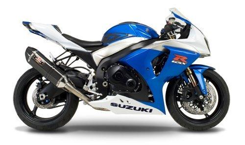 Suzuki Gsxr1000 Carbon Yoshimura Race - 07-08 SUZUKI GSXR1000: Yoshimura R-77 Slip-On Exhaust (Race/Carbon Fiber With Carbon Fiber End Cap)