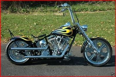 "ACCESSORIESHD - CLASSIC COBRA NO VISOR Chrome Billet Headlight 5.75"" x 7"" Harley Chopper Bobber Custom"