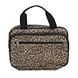 Household Essentials Double Sided Travel Kit Leopard Print, Yellow/Black, One Size