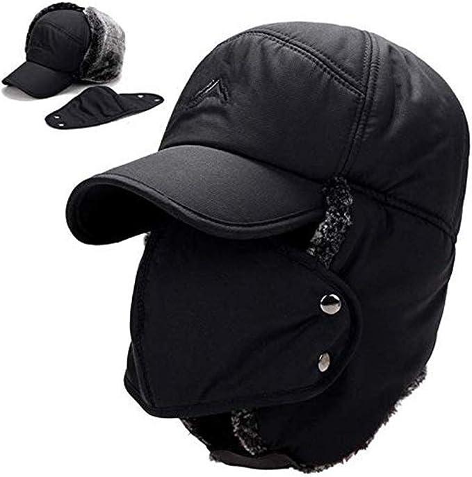 Sombrero Gorro De Piel Sint/ética para Mujer Hombres C/álido Sombrero con Orejeras para Invierno