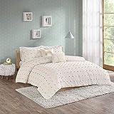 Urban Habitat Kids Callie Comforter Reversible 100% Cotton Jacquard Weave Colorful Poms Dots Soft Overfilled Down Alternative Hypoallergenic All Season Bedding-Set, Full/Queen, Multi