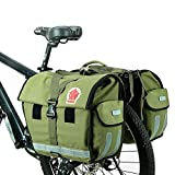 COTEetCI Bike Trunk Bag Rear Rack Waterproof Bicycle Pannier Seat Bag Cycling Pouch 40-50L Carrier Bag Army Green