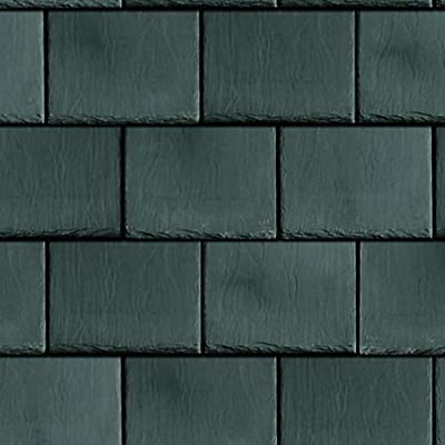 Melody Jane Dollhouse Roof Tile Slates Dark Grey Miniature 1:12 Scale Card Roofing Sheet: Toys & Games