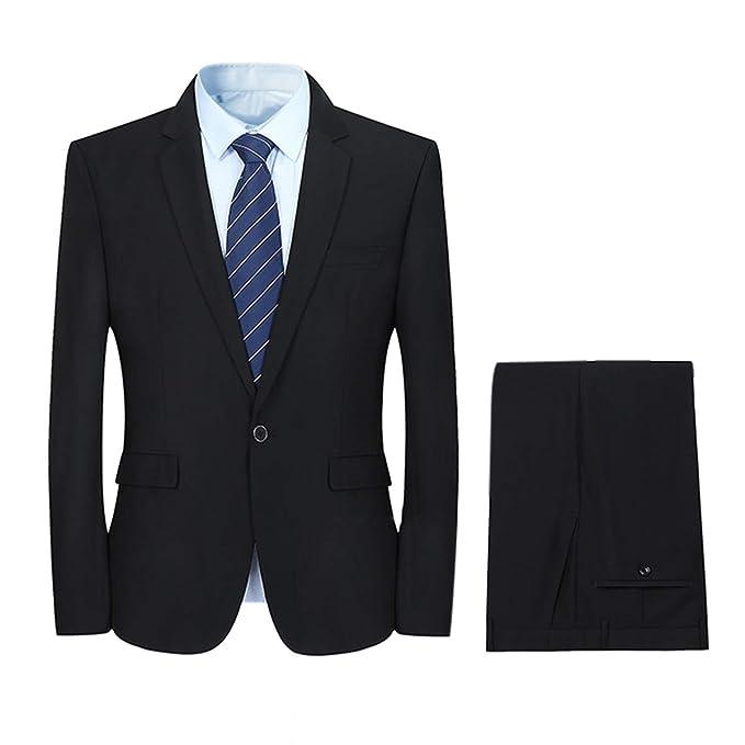Amazon.com: YFFUSHI - Traje formal para hombre, 2 piezas ...