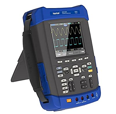 Hantek DSO1202E 200Mhz Digital Storage Oscilloscope 1GSa/s 2M Memory Depth Five in One: Oscilloscope/Recorder/DMM/ Spectrum Analyzer/Frequency Counter