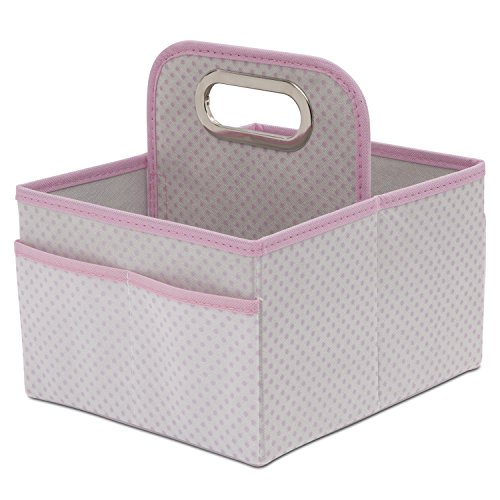Delta Children Portable Nursery Caddy, Infinity Pink