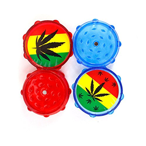 Tuliptown-19-Colorful-Plastic-Grinder-for-Spice-Tobacco-Herb-Weed-with-Magnetic-Top