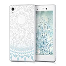 kwmobile Crystal TPU Silicone Case for Sony Xperia M4 Aqua in Design Indian sun blue white transparent