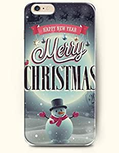 OFFIT iPhone 6 Plus Case 5.5 Inches Snowman Cheers for the Christmas Day - Merry Christmas and Happy New Year