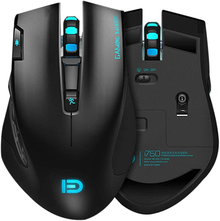Gbell  Ergonomic 2.4 Ghz Portable Wireless RGB Gaming Mouse with Six-Color Light Breathing 3000Dpi USB Weight Light Game Mice for Notebook PC Laptop
