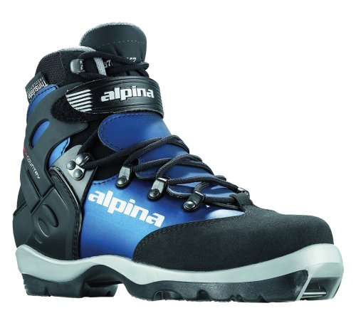 Alpina Women's BC-1550 Eve Back-Country Nordic Cross-Country Ski Boots, for use with NNN-BC Binding, Black/Blue, 38