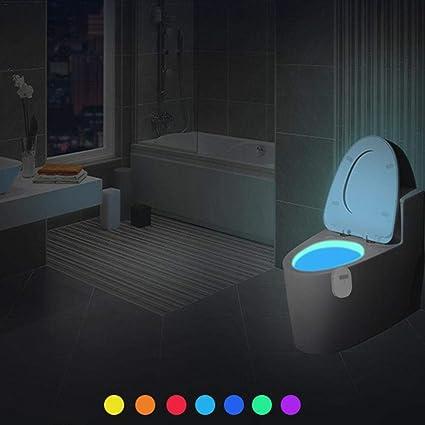 Qxpect Led Luz de Inodoro IP67 a Prueba de Agua Sensor de Movimiento Sensor de Movimiento