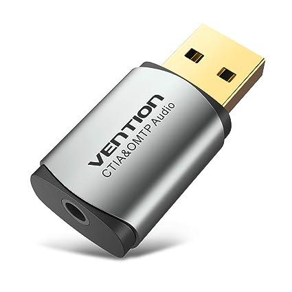 Vention - Tarjeta de Sonido Externa USB de 3,5 mm, Adaptador ...