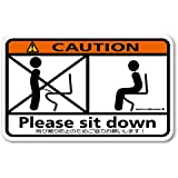 メイヴルアットホーム 座りション トイレステッカー 立たないでジョ~!! トイレ ステッカー 立ちション禁止 座って 座る マナー 掃除(コーション)