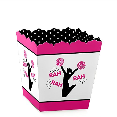 We've Got Spirit - Cheerleading - Party Mini Favor Boxes - Birthday Party or Cheerleader Party Treat Candy Boxes - Set of 12 -