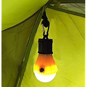 2 Pack Portable LED Lantern Tent Light Bulb for Camping Hiking Fishing Emergency Light, Battery Powered Camping Lamp with 6 AAA Batteries … (5)