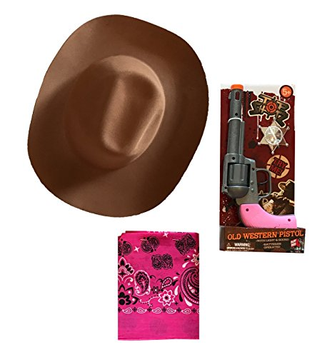Wild West Ranger Dress-Up Costume Accessories - COWBOY and COWGIRL Styles (Sheriff 3 - COWGIRL)