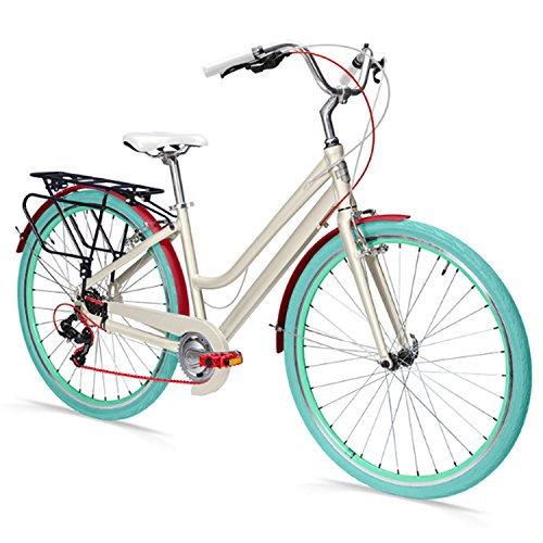 Projekt 8 Eight Speed Women's Urban City Commuter Bike - 700c Hybrid Bike