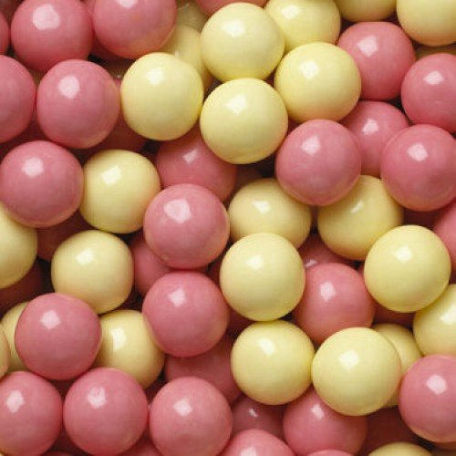 Kicked Up Lemonade Yellow And Pink Colored Gumballs 2 Pounds (Gumballs Lemonade)