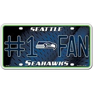 Seattle Seahawks License Plate - #1 Fan