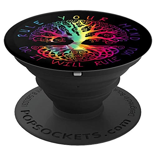 Tree of Life Celtic Spiritual Quote Yoga Meditation Tie Dye - PopSockets Grip and Stand for Phones and Tablets