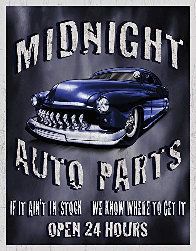 (Art Wall Hangings Legends - Midnight Auto Parts Metal Sign, 12
