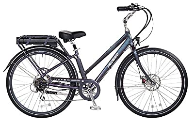 "Pedego City Commuter 28"" Step Thru Steel Blue with Black Balloon Package 48V 15Ah"