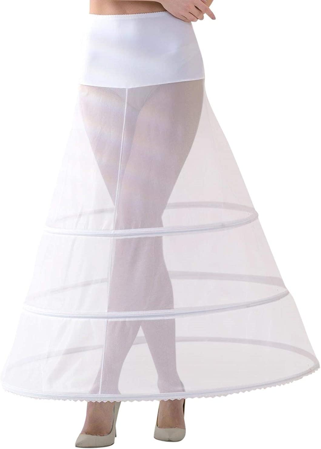 Lacey Bell Femme Jupon Maxi Elegante Elastique Taille pour Robe de Mariee P10-320
