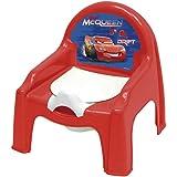Name Spritzschutz WC Stuhl Disney Cars Lightning McQueen alles-meine.de GmbH 2 in 1: Nachttopf mit gro/ßer Lehne Kinderstuhl /_ T/öpfchen // Nachttopf incl Plastik..