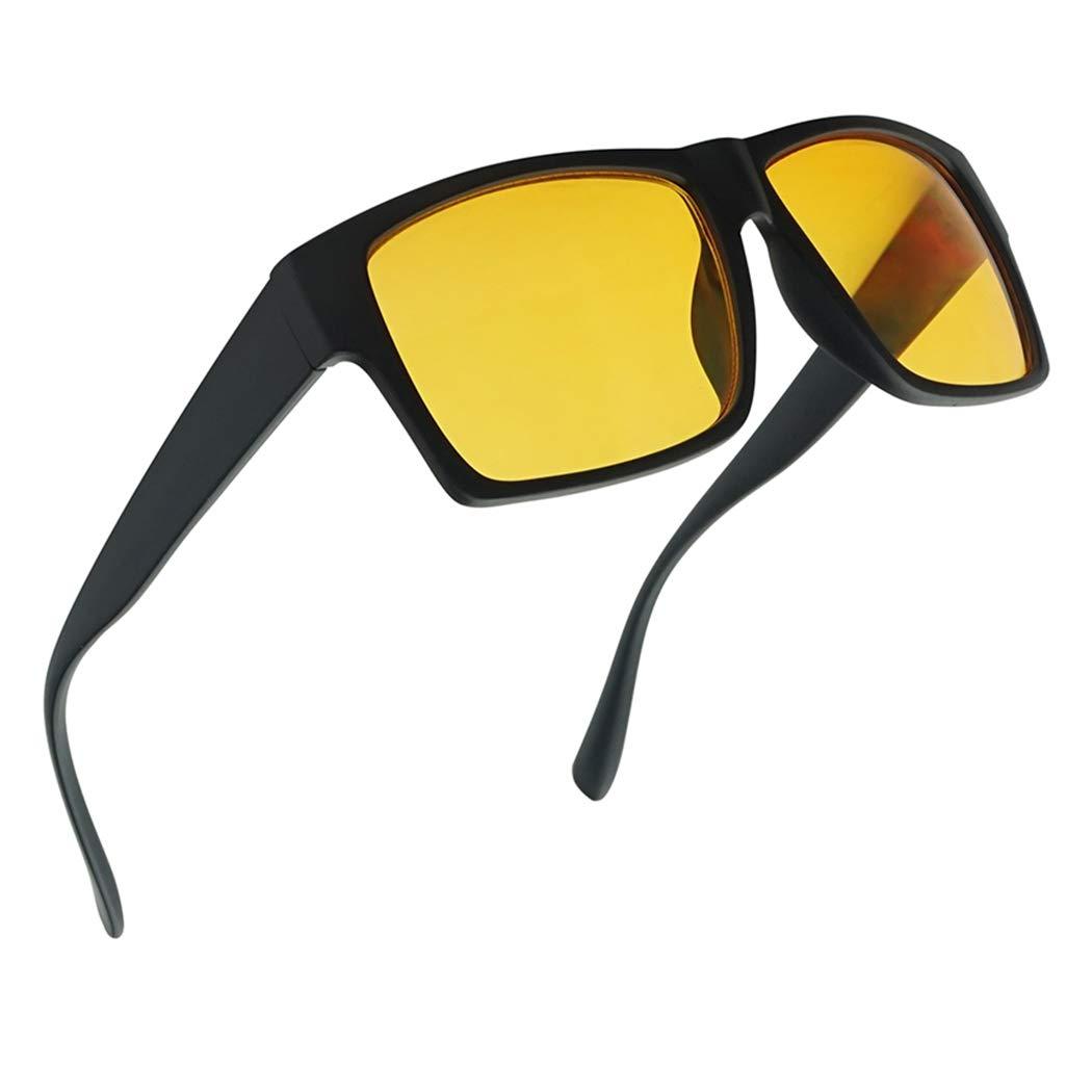 SunglassUP Day and Night Anti-Glare Driving Sun Glasses Yellow)