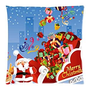 Pillowcase 18x18 inch (one side) Merry Christmas Pillow Cover Cases