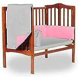 Baby Doll Bedding ReversibleMini Crib/Port-a-Crib Bedding, Grey/Pink
