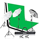 Emart Umbrella Continuous Lighting Kit with 7x10ft Background Support System for Photo Studio Product, Portrait and Video Shoot Photography