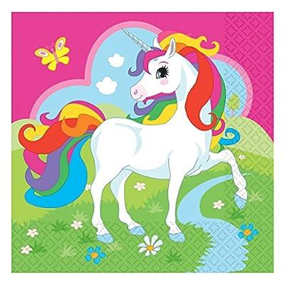 20serviettes * * pour anniversaire d'enfant Licorne Arc-en-ciel ou fête de la devise//Napkins Unicorn monde de rêve Fantasy enfants anniversaire