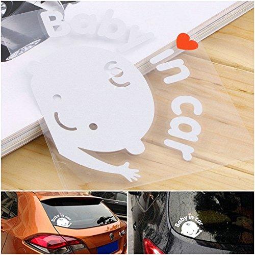 1 Pcs Optimum Popular Baby In Car Sticker Sign Truck Decor Window Logo Safety Symbol Boy Style Color White
