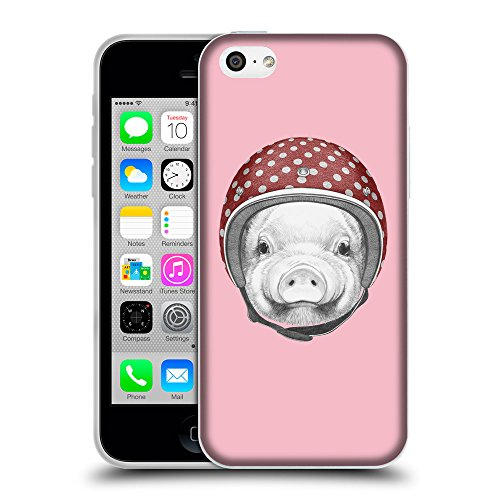 GoGoMobile Coque de Protection TPU Silicone Case pour // Q05340630 Casque tirelire Rose // Apple iPhone 5C
