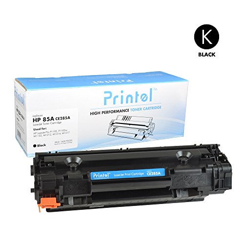 HP 85A (CE285A) Black, Compatible Toner Cartridge by Printel, 1600 Page Yield -for use in HP LaserJet Pro M1132, M1212nf, M1217nfw MFP, P1102, and P1102W Printers