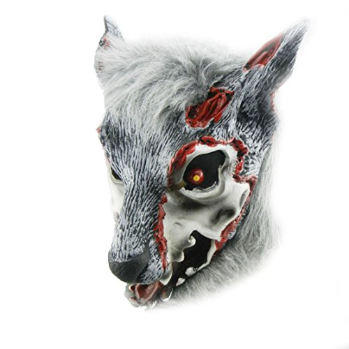 PhoebeTan Halloween Painted Face Wolf's Head Mask -