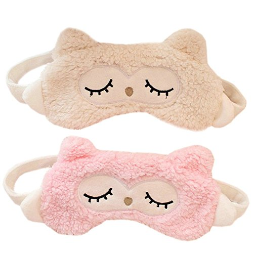 Ayygiftideas-Cartoon-Owl-Sleeping-Eyeshade-Breathable-Blinder-Eye-Cover-Gel-Eye-Mask-Pink