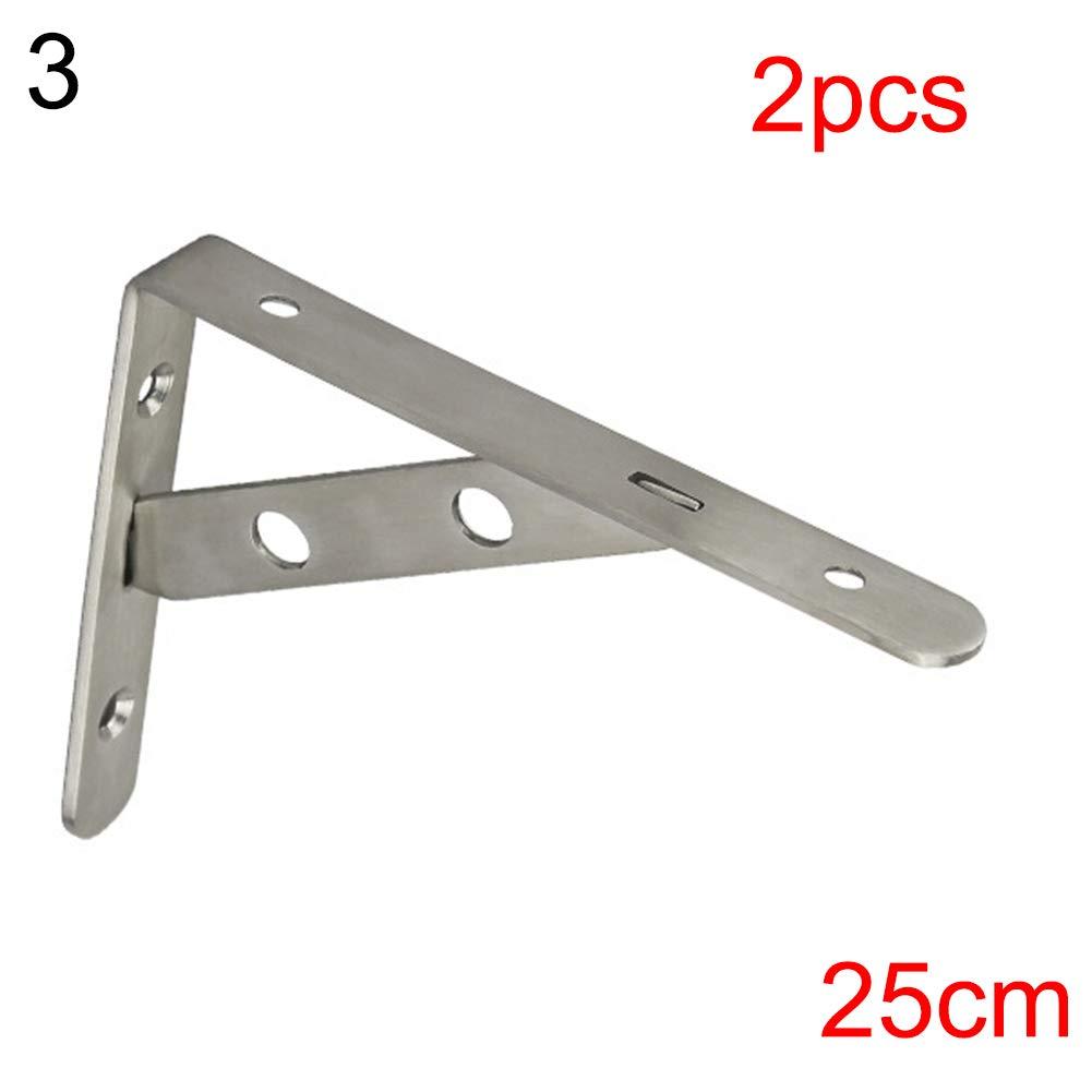Steellwingsf Stahlfl?gge-Dreieck-Halterung,2pcs Wandhalterung Metall klappbare verstellbare Dreieck-Winkelhalterung-15cm