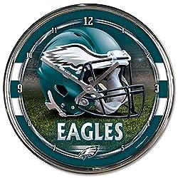 NFL Philadelphia Eagles Chrome Clock, 12 x 12