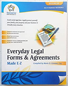 Everyday Legal Forms Agreements Mario D German - Socrates legal forms