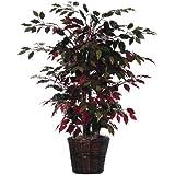 3' Artificial Potted Natural Red Capensia Bush - Unlit