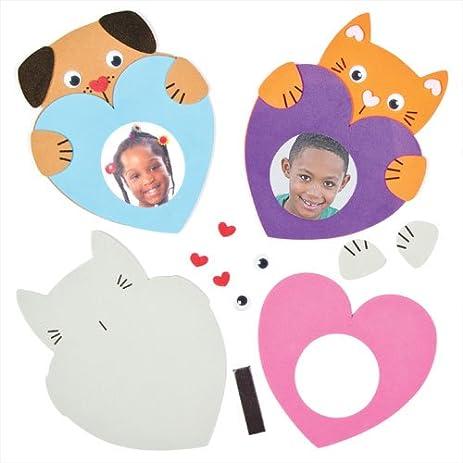 Amazon.com: Heart Pets Foam Photo Frame Magnet Kits for Children to ...